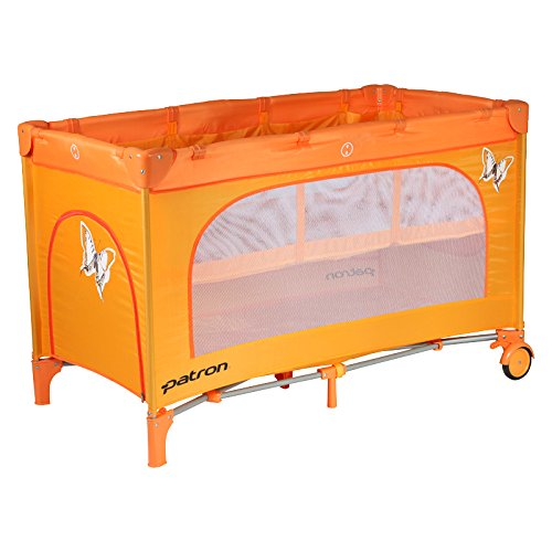 Patron bdp101007aa834p Cuna de viaje Skippy Plus, mariposa naranja