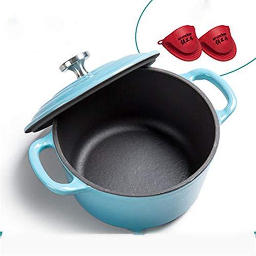 CHAO Auflauf Emaille-Kochgeschirr, Geschirr mit Bratpfannendeckel, leicht zu reinigen und zu pflegen, multifunktional, für das Kochen im Innen- oder Außenbereich oder zum Grillen geeignet