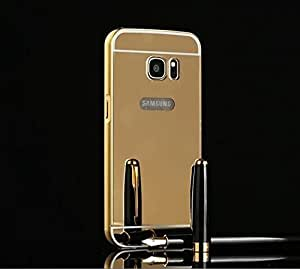 Droit Luxury Metal Bumper + Acrylic Mirror Back Cover Case for Samsung S7 By Droit Store + Flexible Portable Thumb OK Stand by Droit Store.