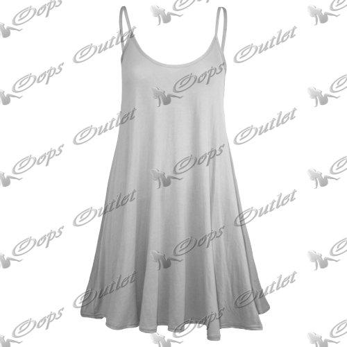 Pure Fashion Damen Ärmeloses Top Mehrfarbig White - Sexy Modern Thin Straps Evening Wear