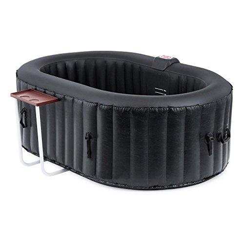 Blumfeldt Shangri-La 550 spa gonflable (chauffage intégré de 1200 W pour des températures d'eau entre 20 et 42 °C, fonction de gonflage et filtre pour l'eau, 2 personnes)
