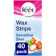 Veet Wax Strips for Sensitive Skin, Pack of 40