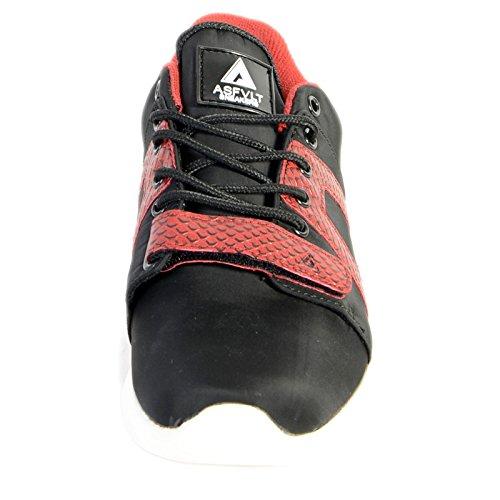 Basket Asfvlt Super V Noir Rouge Noir
