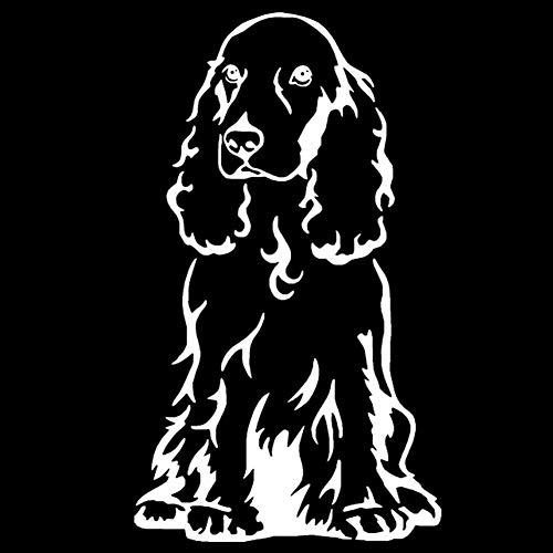 Dandeliondeme Cocker Spaniel Hund Auto Körper Fenster Aufkleber PET Styling LKW Dekoration für Notebook Skateboard Snowboard Gepäck Koffer MacBook Auto Fahrrad Stoßstange Weiß (Auto-fenster-aufkleber Hunde)