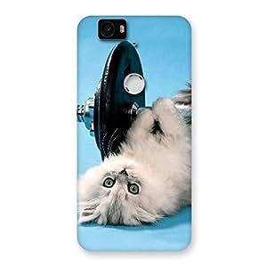 Cute Fit Cat Back Case Cover for Google Nexus-6P