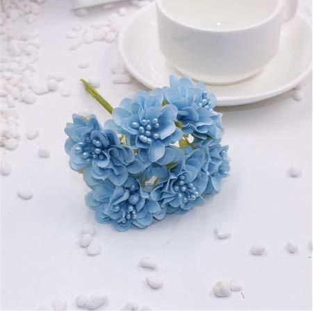 6 teile/los billig Mini Silk Daisy Künstliche Rose Blumen Bouquet DIY Hochzeit dekoration Papier Blume für Scrapbooking Fluss Er (Billige Blume Künstliche Bouquet)