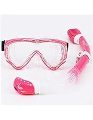Niños Niños gafas de buceo tubo de respiración equipo de buceo todo seco, anti-niebla buceo gafas , m