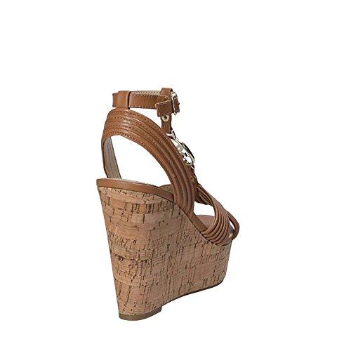 Guess FLGIL1 LEA03 Sandalo Zeppa Donna Marrone