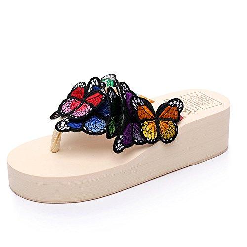Estate Sandali Pattini handmade femmina di estate Pattini freddi della farfalla Pattini casuali della spiaggia di Anti-skid (formato, colore opzionale) Colore / formato facoltativo #8