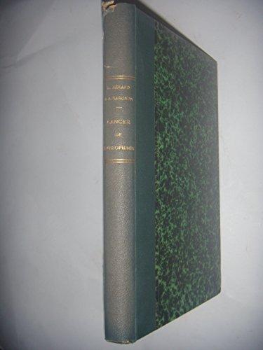 MEDECINE CHIRURGIE: Cancer de l'oesophage, 76 fig, 1933, BE