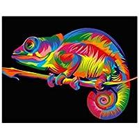 PINTURA por número Kit Rainbow Chameleon