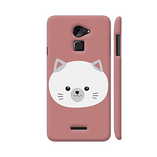 Colorpur Cute White Kitty with Gray Ears Printed Back Case Cover for Coolpad Note 3 Lite