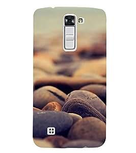 FUSON Sea Stones Background 3D Hard Polycarbonate Designer Back Case Cover for LG K7 :: LG K7 Dual SIM :: LG K7 X210 X210DS MS330 :: LG Tribute 5 LS675