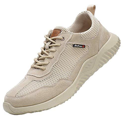 Sicherheitsschuhe S3 Herren Damen Arbeitsschuhe Leicht Sportlich Sneaker Schutzschuhe mit Stahlkappe Damen Herren Industrie & Handwerk Sneaker,Flesh,EU43