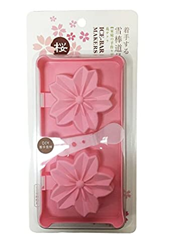 LTCT Ice Cream Bar Mould Ice Chocolate Candy Soap Molds DIY Ice Pop Makers Cute Design Cherry Blossoms Shape (Pink)