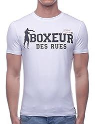 Boxeur Des Rues Sèrie Exclusive, T-Shirt Logo Bandiera Francese Uomo