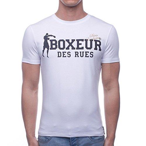 Boxeur Des Rues BXE-02ESY - Camiseta de hombre, Blanco, XL