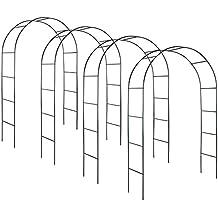 TecTake Conjunto de 4 arco para enredaderas | arco de rosas