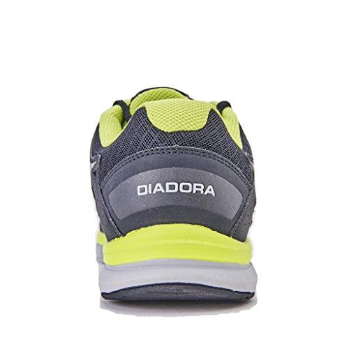 Diadora Hawk 4, Baskets Basses Mixte Adulte, Gris Nero/grigio