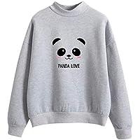 Beikoard_Ropa de mujer,Suéter con Estampado de Panda de Manga Larga para Mujer Tops de Mujer Ropa de Mujer Moda para Mujer Dia de San Valentin Navidad Regalo