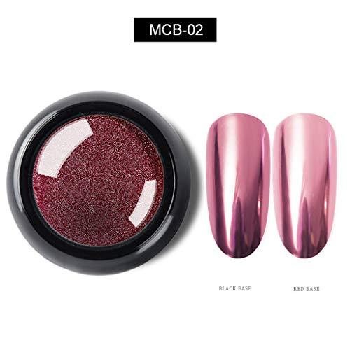 ck, Spiegeleffekt, Chromnagellack, hohe Sättigung, leicht zu färben und langlebiges Nagelpulver ,Watopi ()