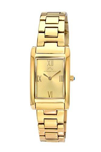 Porsamo bleu karla orologio da donna con cinturino in acciaio inox e cinturino in pelle intercambiabili 961bkas