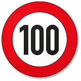 DankeDir! 100 Geburtstag Verkehrsschild - Kunststoff Schild, Geschenk 100. Geburtstag, Geschenkidee Geburtstagsgeschenk Hundertsten, Geburtstagsdeko/Partydeko / Party Zubehör/Geburtstagskarte