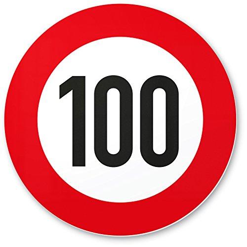 DankeDir! 100 Geburtstag Verkehrsschild - Kunststoff Schild, Geschenk 100. Geburtstag, Geschenkidee Geburtstagsgeschenk Hundertsten, Geburtstagsdeko/Partydeko / Party Zubehör/Geburtstagskarte (Schild Geburtstag Party)
