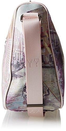 YNOT H-370, Borsa a Tracolla Donna, 31 x 24.5 x 12.5 cm (W x H x L) Multicolore (Pink Lagoon)