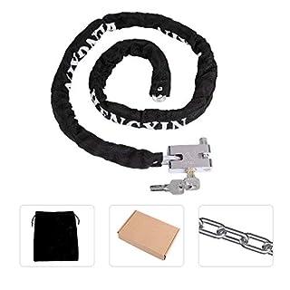 Bike Chain Lock Bicycle Lock Heavy Duty Motorcycle Motorbike Cycle Cable Lock Gate Padlock BesToo 1.15m (Black)
