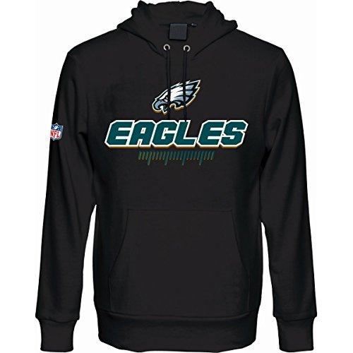 Majestic Fan Hoody - NFL Philadelphia Eagles schwarz - XXL (Sweatshirt Eagle Hoodie American)
