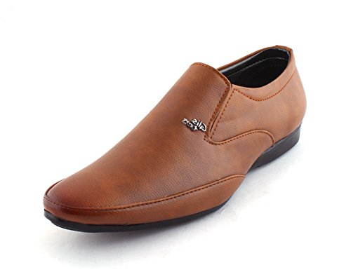 Alestino Men's Leather Looks Formal Shoes (41 UK) FD41Tan