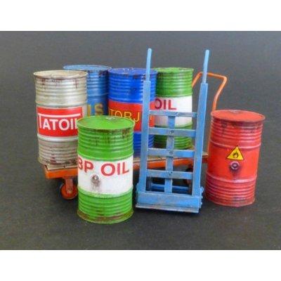 Plus-Model 482-Accesorios de construcción Metal Barrels with handcarts