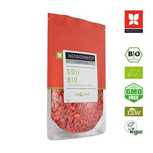 NEOBOTANICS® Premium Bio Tibet Goji Beeren - 150 g - Superfood Snack - vegan - raw - Organic Food - ungeschwefelt & ungezuckert, sonnengetrocknet - handgeerntet (DE-ÖKO-006) Praktische Zipp-Verpackung