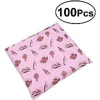 YeahiBaby 100pcs Bolsas Autoadhesivas de Mensajero Bolsa de Plástico Impreso Rosa