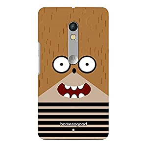 HomeSoGood Scared Like Hell Brown 3D Mobile Case For Moto X Play (Back Cover)