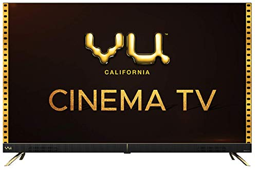 Vu 126 cm (50 inches) 4K Ultra HD Cinema Android Smart LED TV 50CA (Black) | With 40W Front Soundbar