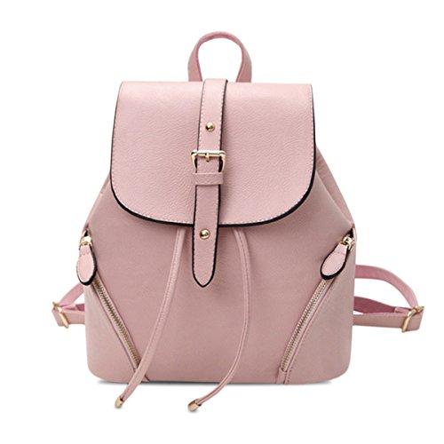 OURBAG Borsa da viaggio semplice borsa da scuola zaino moda donna Rosa