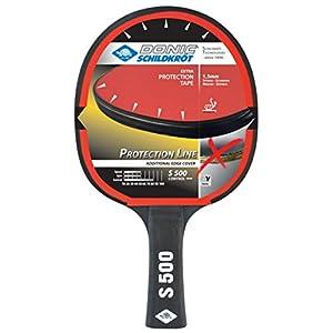 Donic-Schildkröt Tischtennisschläger Protection Line S500, mit Schutz Gegen Belag-Abzupfen, 1,5 mm Schwamm, Elite – ITTF Belag, 713055
