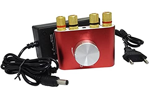 Mini Stereo Verstärker Bluetooth mit Netzteil Eurostecker, 30W + 30W