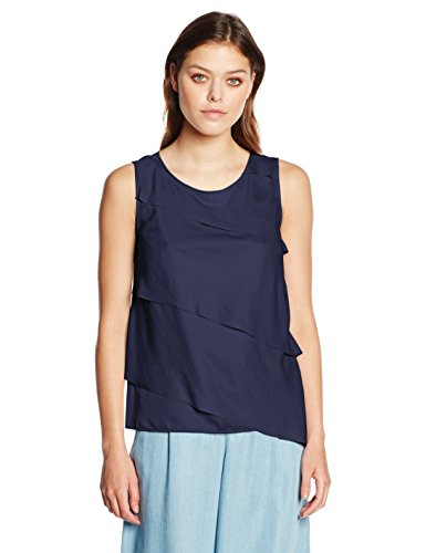 BOSS Casual Damen Top Kasimmy, Blau (Dark Blue 407), 36