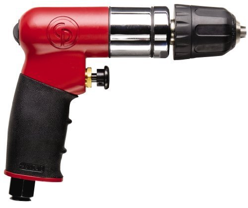 - Chicago Pneumatic CP7300RQC 1/4-Inch Reversible Mini Air Drill with Keyless Chuck by Chicago Pneumatic