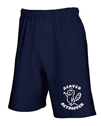 T-Shirtshock - Jogginghose Shorts FUN0731 beaver retriever decal 75724, Gr XL (Retriever-herren-shorts)