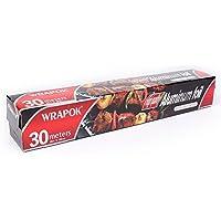 """wrapok papel de aluminio para cocina plata rollo de lámina 12""""de ancho 97 ft"""