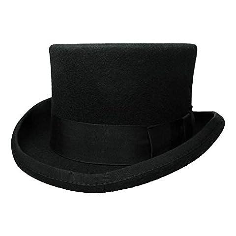 Produit neuf de qualité Mesdames fait à la main au Royaume-Uni Style de mariage Noir Top Hat 39004–8 - noir - noir,