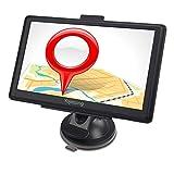 GPS Navi Navigation für Auto PKW 7 Zoll LKW Navigationsgerät mit Lebenslang Kostenlosem Kartenupdate Blitzerwarnung POI Sprachführung Fahrspurassistent 2018 Karten für 52 EU UK Länder-Yojetsing