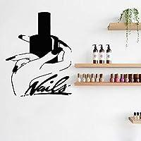 Nail Stylist Nail Polish Girl Hand Wall Decal Nails Art Manicure Pedicure Service Stickers Home Decor Girls Beauty Salon 56X70Cm