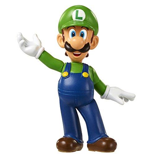 Mario Bros - World of Nintendo figura Super Mario Luigi, 6 cm (Jakks Pacific JAKKNINLUIGI)