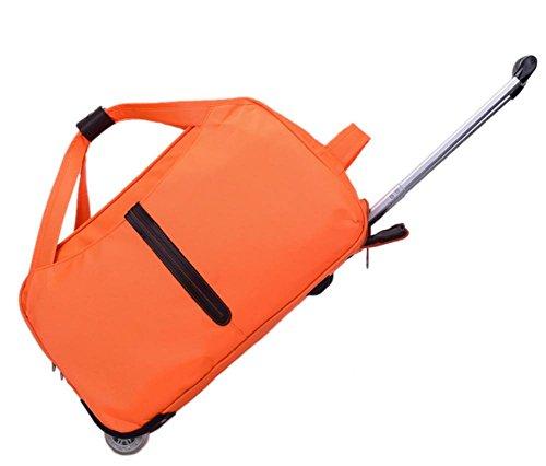 Borsa impermeabile bagagli trolley borsa uomo/donna (20 pollici, 22 pollici) orange