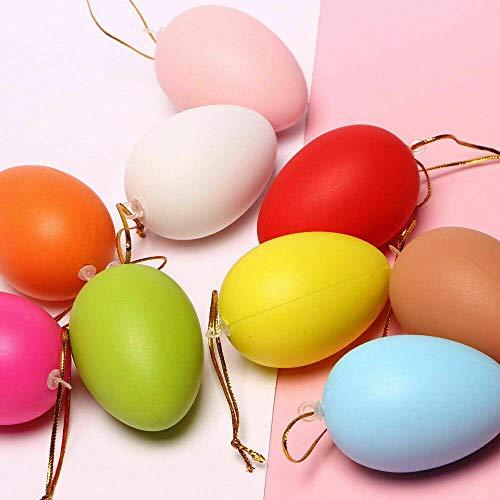 12 Stück DIY Eier Pack von Osterjagd Eiern Kunststoff Geschenk Party DIY Dekoration -